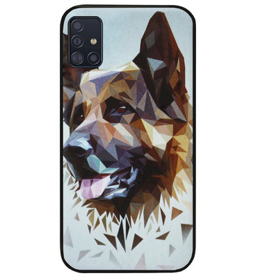 ADEL Siliconen Back Cover Softcase Hoesje voor Samsung Galaxy A71 - Duitse Herder Hond