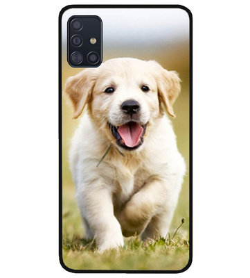 ADEL Siliconen Back Cover Softcase Hoesje voor Samsung Galaxy A71 - Labrador Retriever Hond
