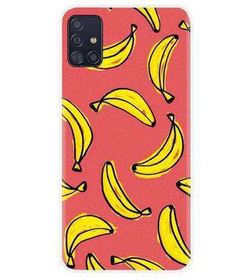 ADEL Siliconen Back Cover Softcase Hoesje voor Samsung Galaxy A71 - Bananen Geel
