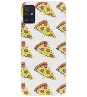 ADEL Siliconen Back Cover Softcase Hoesje voor Samsung Galaxy A71 - Junkfood Pizza