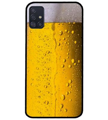 ADEL Siliconen Back Cover Softcase Hoesje voor Samsung Galaxy A71 - Pils Bier