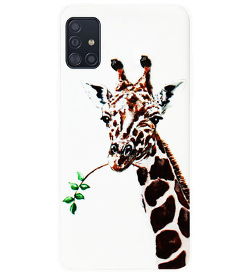 ADEL Siliconen Back Cover Softcase Hoesje voor Samsung Galaxy A71 - Giraf