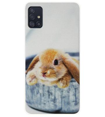 ADEL Siliconen Back Cover Softcase Hoesje voor Samsung Galaxy A71 - Konijn