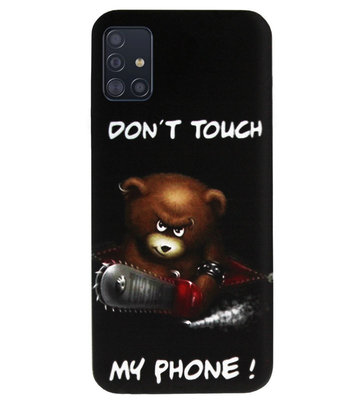 ADEL Siliconen Back Cover Softcase Hoesje voor Samsung Galaxy A71 - Don't Touch My Phone Beren