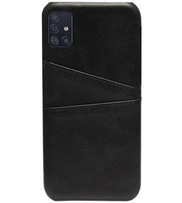 ADEL Kunstleren Back Cover Pasjes Hoesje voor Samsung Galaxy A71 - Zwart