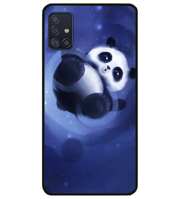 ADEL Siliconen Back Cover Softcase Hoesje voor Samsung Galaxy A71 - Panda Liggend