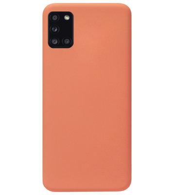 ADEL Premium Siliconen Back Cover Softcase Hoesje voor Samsung Galaxy A31 - Oranje