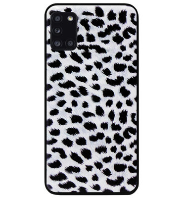 ADEL Siliconen Back Cover Softcase Hoesje voor Samsung Galaxy A31 - Luipaard Wit