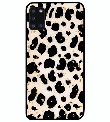 ADEL Siliconen Back Cover Softcase Hoesje voor Samsung Galaxy A31 - Luipaard Bling Glitter