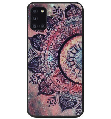 ADEL Siliconen Back Cover Softcase Hoesje voor Samsung Galaxy A31 - Mandala Bloemen Rood