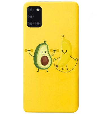 ADEL Siliconen Back Cover Softcase Hoesje voor Samsung Galaxy A31 - Fruit