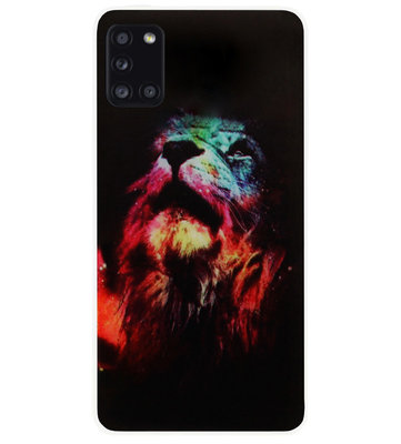 ADEL Siliconen Back Cover Softcase Hoesje voor Samsung Galaxy A31 - Leeuw