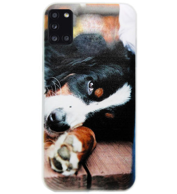 ADEL Siliconen Back Cover Softcase Hoesje voor Samsung Galaxy A31 - Berner Sennenhond