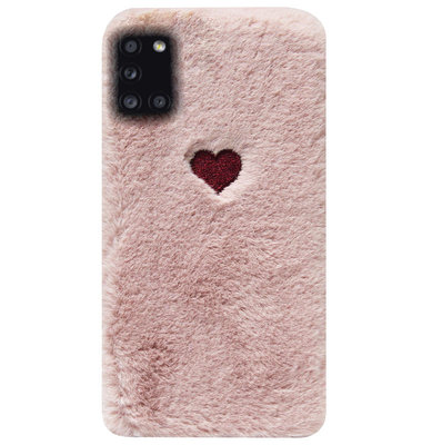 ADEL Siliconen Back Cover Softcase Hoesje voor Samsung Galaxy A31 - Hartjes Roze
