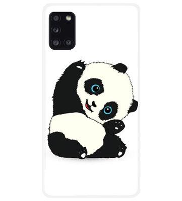 ADEL Siliconen Back Cover Softcase Hoesje voor Samsung Galaxy A31 - Panda