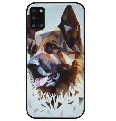 ADEL Siliconen Back Cover Softcase Hoesje voor Samsung Galaxy A31 - Duitse Herder Hond