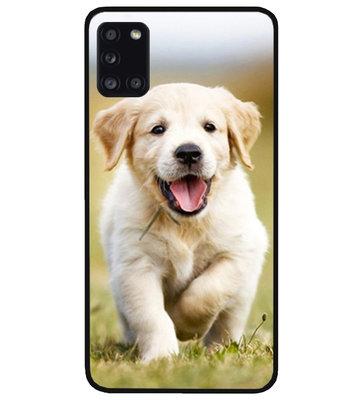 ADEL Siliconen Back Cover Softcase Hoesje voor Samsung Galaxy A31 - Labrador Retriever Hond