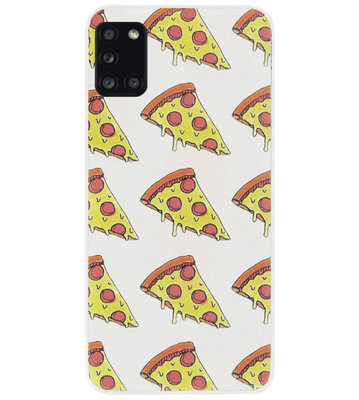 ADEL Siliconen Back Cover Softcase Hoesje voor Samsung Galaxy A31 - Junkfood Pizza