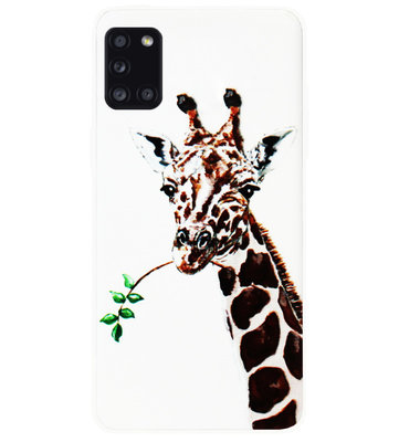 ADEL Siliconen Back Cover Softcase Hoesje voor Samsung Galaxy A31 - Giraf