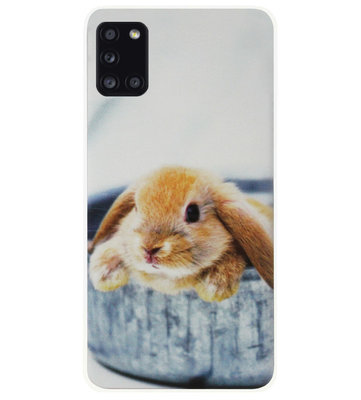 ADEL Siliconen Back Cover Softcase Hoesje voor Samsung Galaxy A31 - Konijn