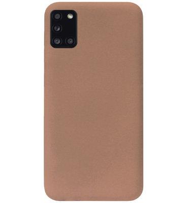 ADEL Siliconen Back Cover Softcase Hoesje voor Samsung Galaxy A31 - Bruin