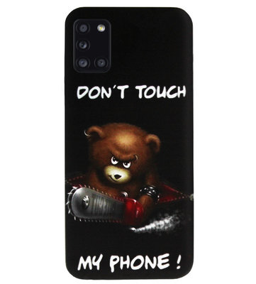 ADEL Siliconen Back Cover Softcase Hoesje voor Samsung Galaxy A31 - Don't Touch My Phone Beren