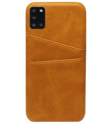 ADEL Kunstleren Back Cover Pasjes Hoesje voor Samsung Galaxy A31 - Bruin
