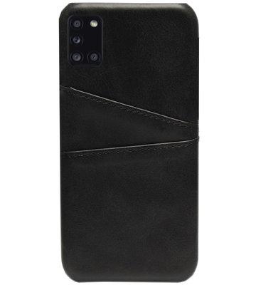 ADEL Kunstleren Back Cover Pasjes Hoesje voor Samsung Galaxy A31 - Zwart
