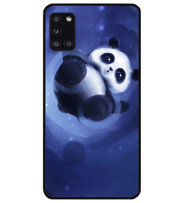 ADEL Siliconen Back Cover Softcase Hoesje voor Samsung Galaxy A31 - Panda Liggend