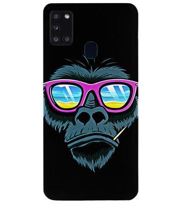 ADEL Siliconen Back Cover Softcase Hoesje voor Samsung Galaxy A21s - Gorilla Apen