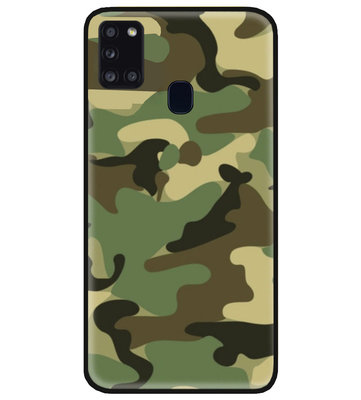 ADEL Siliconen Back Cover Softcase Hoesje voor Samsung Galaxy A21s - Camouflage