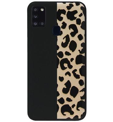 ADEL Siliconen Back Cover Softcase Hoesje voor Samsung Galaxy A21s - Luipaard Bruin