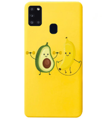 ADEL Siliconen Back Cover Softcase Hoesje voor Samsung Galaxy A21s - Fruit