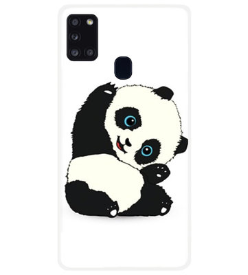 ADEL Siliconen Back Cover Softcase Hoesje voor Samsung Galaxy A21s - Panda