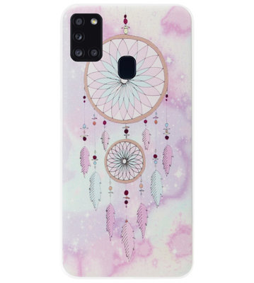 ADEL Siliconen Back Cover Softcase Hoesje voor Samsung Galaxy A21s - Dromenvanger
