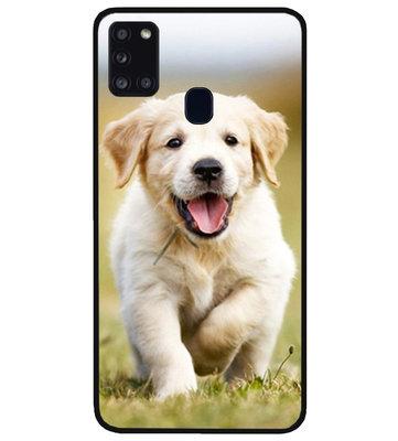 ADEL Siliconen Back Cover Softcase Hoesje voor Samsung Galaxy A21s - Labrador Retriever Hond