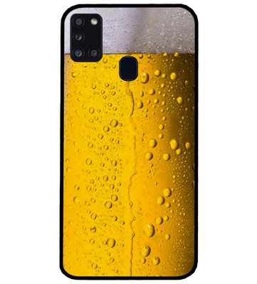 ADEL Siliconen Back Cover Softcase Hoesje voor Samsung Galaxy A21s - Pils Bier