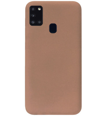 ADEL Siliconen Back Cover Softcase Hoesje voor Samsung Galaxy A21s - Bruin