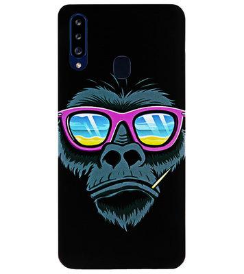 ADEL Siliconen Back Cover Softcase Hoesje voor Samsung Galaxy A20s - Gorilla Apen