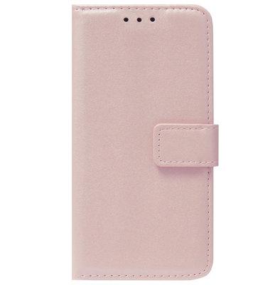 ADEL Kunstleren Book Case Pasjes Portemonnee Hoesje voor Samsung Galaxy A20s - Goud Rose