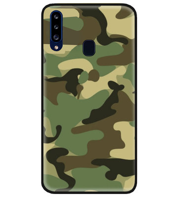 ADEL Siliconen Back Cover Softcase Hoesje voor Samsung Galaxy A20s - Camouflage