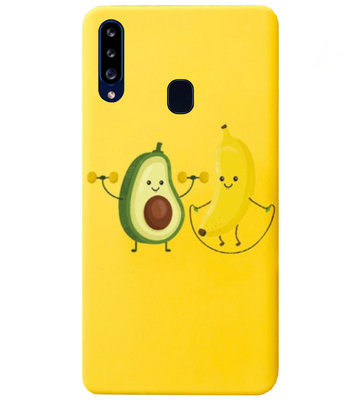 ADEL Siliconen Back Cover Softcase Hoesje voor Samsung Galaxy A20s - Fruit