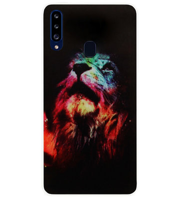 ADEL Siliconen Back Cover Softcase Hoesje voor Samsung Galaxy A20s - Leeuw