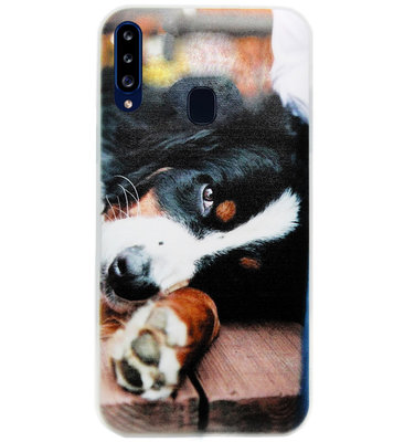 ADEL Siliconen Back Cover Softcase Hoesje voor Samsung Galaxy A20s - Berner Sennenhond