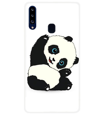 ADEL Siliconen Back Cover Softcase Hoesje voor Samsung Galaxy A20s - Panda