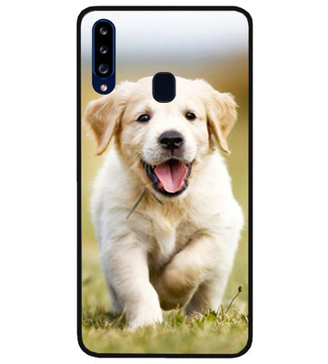 ADEL Siliconen Back Cover Softcase Hoesje voor Samsung Galaxy A20s - Labrador Retriever Hond