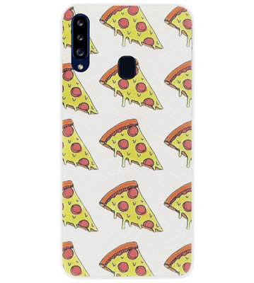 ADEL Siliconen Back Cover Softcase Hoesje voor Samsung Galaxy A20s - Junkfood Pizza