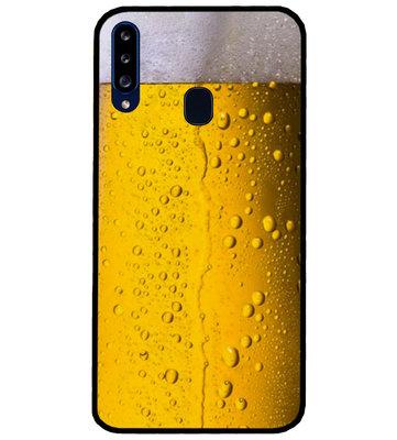 ADEL Siliconen Back Cover Softcase Hoesje voor Samsung Galaxy A20s - Pils Bier