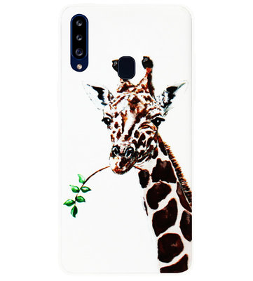 ADEL Siliconen Back Cover Softcase Hoesje voor Samsung Galaxy A20s - Giraf