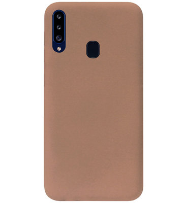 ADEL Siliconen Back Cover Softcase Hoesje voor Samsung Galaxy A20s - Bruin